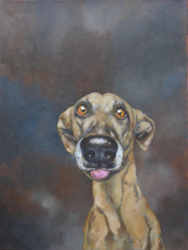 julia osborne dog portrait pet painting acrylics by commission
