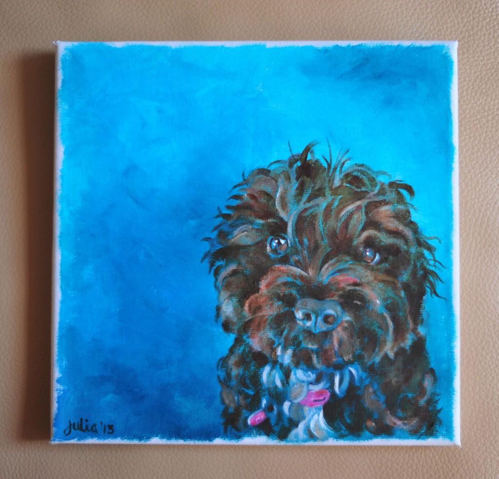 Daisy - 2013 acrylics on small canvas