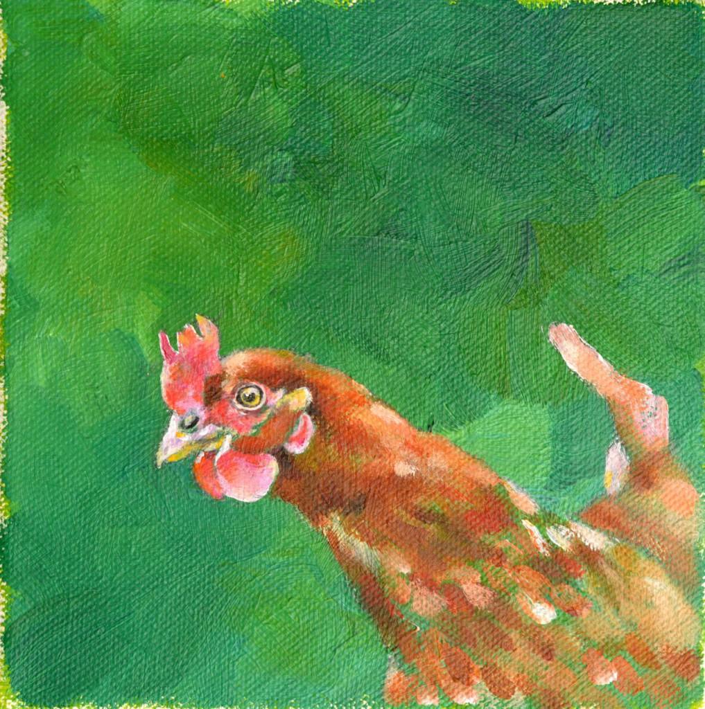 Florrie - 2014 Acrylics on small canvas