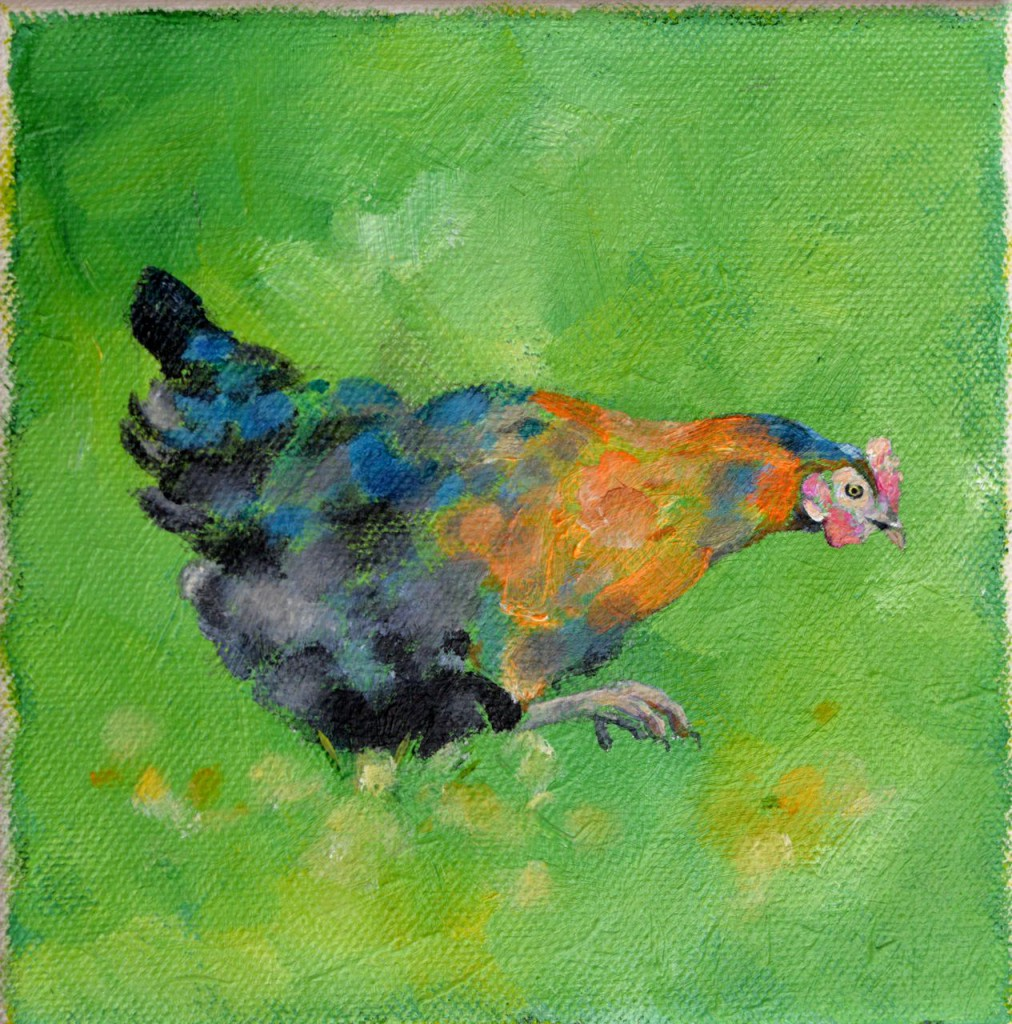 Gertie - 2014 Acrylics on small canvas
