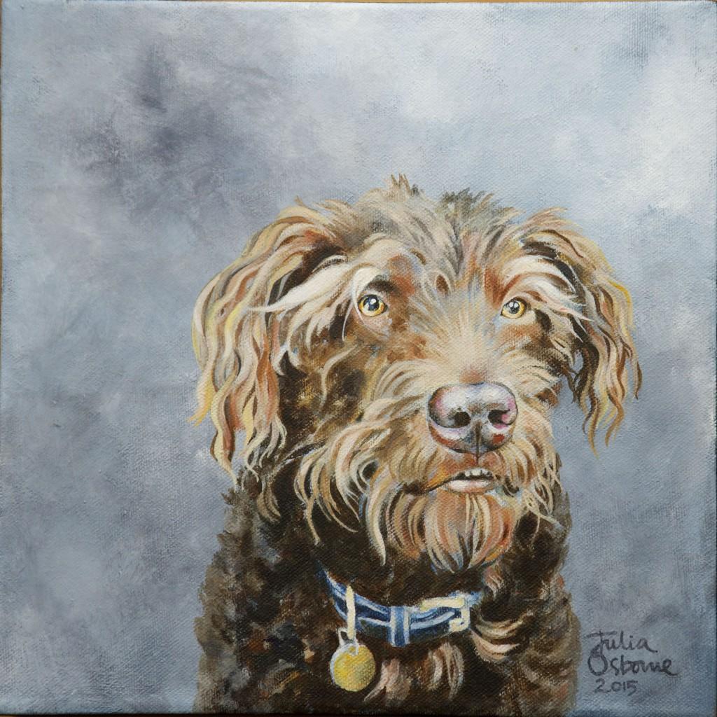 julia osborne dog painting acrylics