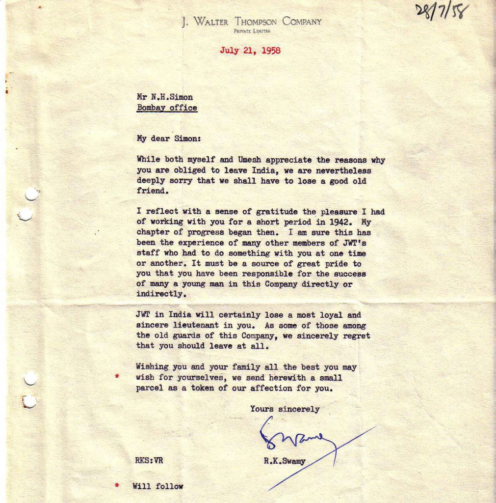 1958 NHSJWTIndia letter1958