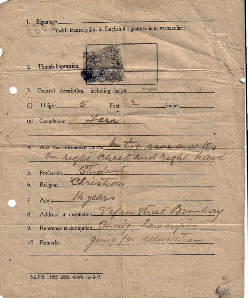 1918 NHSPolicePermitBASRArear